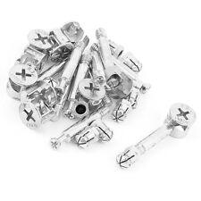 Furniture Cabinet Fixing Screw Locking Cam Bolt Nut Fitting 10 Sets F1R3