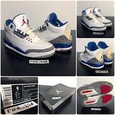 Nike Air Jordan III 3 Retro White True Blue 2009 136064-141 Size 9 used