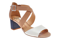 Isaac Mizrahi Live! Leather Sandals with Block Heel PICK SIZE new