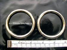 Metal Ring, Welded, 5cm / 2 inch  Internal Diameter, 5mm Wire,Two