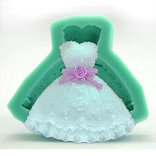 Matrimonio vestito fondente stampo torta cottura in Silicone stampo Sugarcraft