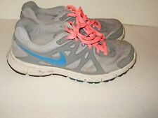 Womens sneakers shoes Nike size 11 grey and turquoise with pink laces