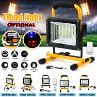 500W 800W 900W LCD Rechargeable Flood Light Spot Work Lamp W/ Remote Control