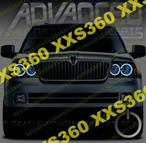 ORACLE Halo 2x HEADLIGHTS for Lincoln Navigator 03-06 WHITE LED Angel Eyes