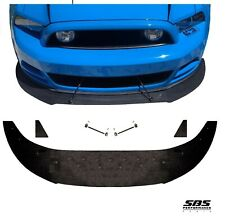 FRONT SPLITTER + 2 WINGLETS & 2 Longacre SUPPORT RODS 2013-14 Mustang GT & V6