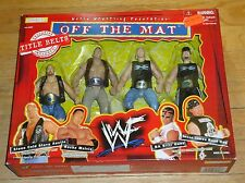 1998 WWF WWE Jakks Off the Mat Box Set MIP Title Belts Rock Stone Cold Road Dogg