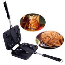 Bung-A-Pang Fish Shaped Taiyaki Waffle Pan Maker 2 Cast Korean Home Cooking Food