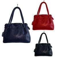 Damentache Handtaschen Schultertasche Tasche  Echt Leder Shopper Ledertasche NEU