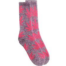 $12.00 HUFAC34009PPH HUF Plantlife Crew Socks (purple heather / pink)