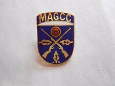 Vintage Milwaukee Air Gun Combat Club BB / Pellet Gun Enamel Crest Pin