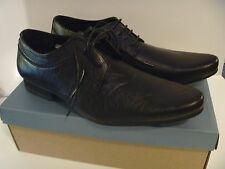 STONE CREEK BARMBY SHOES MENS LACE SCHOOL OFFICE WORK WEDDING BOYS FLAT BLACK 10