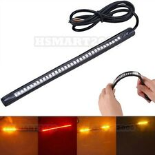 1PC 31cm 36SMD 3528 Red Amber LED Strip for Brake Tail Turn Signal Lights
