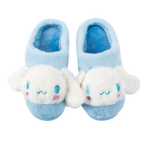 Cinnamoroll dog blue half stuffed plush indoor shoes slippers shoe fashion gift