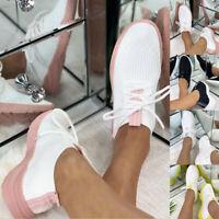 Damen Sportschuhe Laufschuhe Stricken Running Sneaker Turnschuhe Schuhe Freizeit