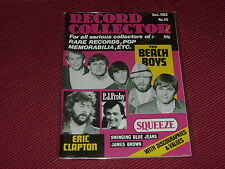 Record Collector Magazine  #40  Dec 1982  Beach Boys, Clapton, PJ Proby  cover