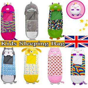 Happy Nappers Sleeping Bag Kids Boys Girls Play Pillow Unicorn Xmas Cute Gift UK