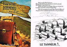 PUBLICITE ADVERTISING 065  1980  LE TANNEUR  maroquinier SACOCHE HOMME ( 2 pag