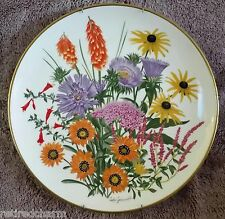 ��1978 Franklin Porcelain Flowers of the Year Plate Coll September By Wedgwood��