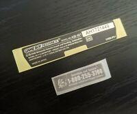 Gameboy Advance AGB-001 Sticker set-->Rear Console Sticker & Warranty Sticker