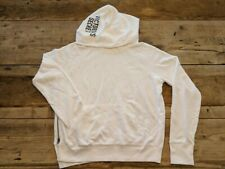 5691878aece VICTORIA'S SECRET SOLID WHITE LOGO FLEECE LOGO HOODIE SWEATSHIRT LOUNGE NEW