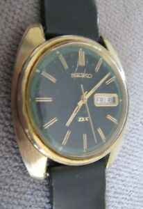 Vintage Seiko DX Automatic 2 Tone Dial Day Date Calendar 6106-8609 Watch Working
