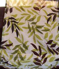 1 Raffrollo Faltrollo Schlaufen halbtransparent weiß grün braun Blatt B/H 60x140