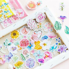 45Pcs Flowers Stickers Kawaii Stationery Journal Cute DIY Stickers Scrapbooking