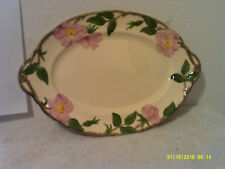 VINTAGE FRANCISCAN OVAL SHAPE SERVING PLATE...#16747 in DESERT ROSE PATTERN