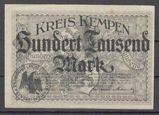 Kempen  -  Kreis  -  100 Tausend Mark  -  Buchst. B