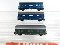 CJ212-0,5# 3x Roco H0/AC Wohn-/ Schlafwagen 7618 für Gleisbauzug DB NEM, Mängel