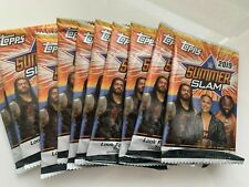 10 Unopened Packs Topps 2019 WWE Summer Slam (7 cards/pack = 70 total cards)