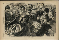 Winslow Homer Home from War soldiers wives 1863 Civil War wood engraved print