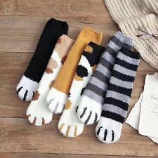 6 Pairs Warm Winter Socks Girls Kitty Cat Paws Cute Thick Warm Sleep Floor S~M