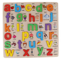 Wooden Letter Puzzle Jigsaw Kids Baby Educational Learning Toy