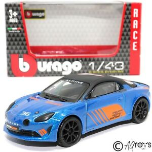 Renault Alpine A110 Cup 1:43 Scale Die-cast Model Toy Car Bburago Race