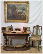 Hohenloher Barock Tisch Schreibtisch Bureau plat  Nussbaum Studierzimmer