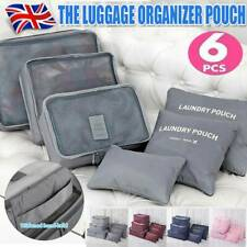 6pcs Packing Cubes Luggage Storage Organiser Travel Compression Suitcase Bag A+