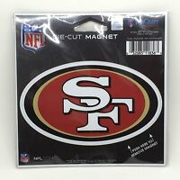 "NFL San Francisco 49ers Logo Officially Licensed Die-Cut Magnet (4.75""x 3"")"