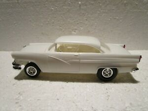 AMT 1956 Ford Victoria Vintage Built Plastic Model Car, NEVER Painted - EX