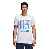 Adidas Hommes T-Shirts Athlétique Entraînement Fitness Course Gym SPORTS Numéro