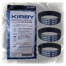 Original Kirby 9 Las bolsas de Filtro + 3 Correas Planas (197394 / 301291)