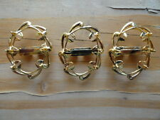 Bolo Slide hamilton gold plated holds an 18x25mm stone 0405 (pk 3) wave