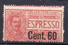 1922 REGNO ESPRESSO 60 CENTESIMI SU 50 INTEGRO C/3695