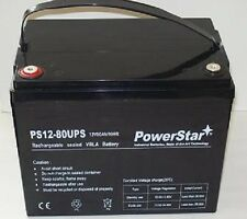 Black 12V 80AH 1800 Watts M6/T6 High Current Battery replaces Kinetik HC1800