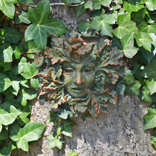 Green Man Spirit Outdoor Wall Decoration Leaf Face Floral Greenmen H13cm 09050