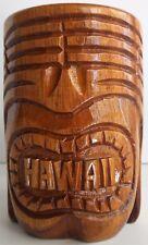 Tiki Mug Hawaii Monkey Pod Wooden Mug Hawaiian Souvenir Tiki Barware Island