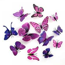Decor Purple Fridge Butterfly Wall Stickers Home Decoration Magnets 3D Decals