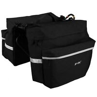 BV Bike Panniers Bag Large Space With Adjustable Hooks, Carrying Handle Bike Bag