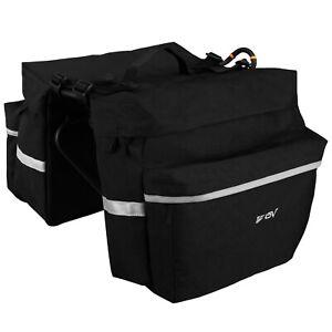 BV Bike Pannier Bag Rear Carrier Bag w/ Carrying Handle Adjustable Hook 26L