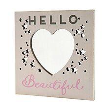 Hello Beautiful Wooden Hanging Plaque Sign Rustic Mirror Mirror Range